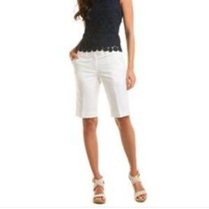 WORTHINGTON SLIM LEG WHITE BERMUDA SHORTS NEW